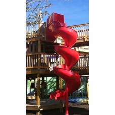 Aluminum Spiral Slide Chute for 5 foot Deck Height