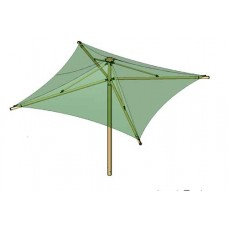 16 foot Square Waterproof Umbrella and Shelter 10 foot Eave Inground