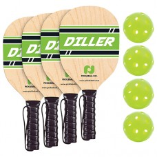 Diller 4 Player Paddle and Ball Pack