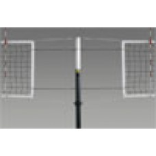 Frontier Complete-SBS Competition Steel Volleyball System Side x Side