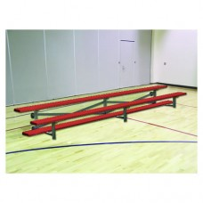 2 Row Bleacher 21 foot Tip and Roll Powder Coated
