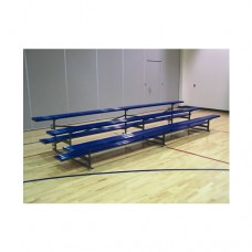 2 Row Bleacher 27 foot Tip and Roll Powder Coated