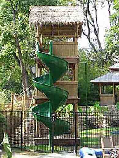 Spiral Tiki House Slide